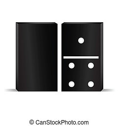 domino front and rear vector illustration