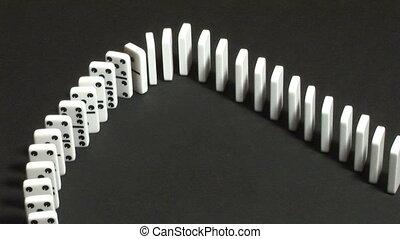 domino, het vallen