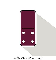 Domino icon illustration Assorted zero to four