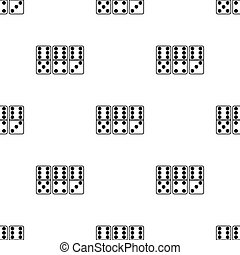 Domino icon in black style isolated on white background.