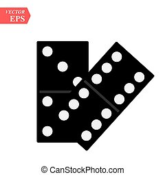 Domino icon isolated on white background for your web and mobile app design, domino vector logo concept