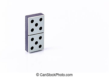 Domino isolated on white background