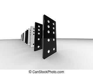 domino, kreska