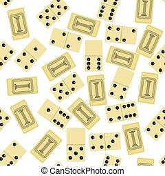 domino, modèle, blanc, texture, isolé, jeu société, seamless, arrière-plan.
