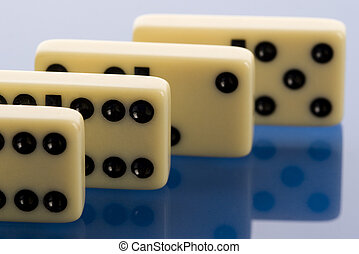 Domino on white background