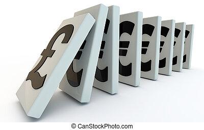 domino, pund, engelsk
