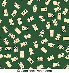 Domino Seamless Pattern. Board Game Texture