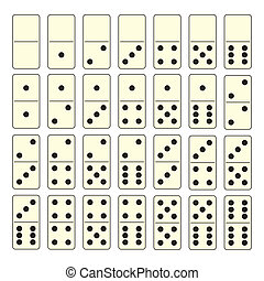 Domino set - Collection of old fashioned domino set with...