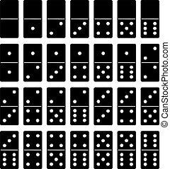Domino set isolated on white