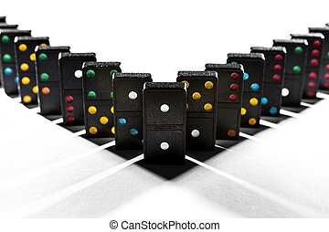 Domino shadow geometry - Shadows between domino blocks...