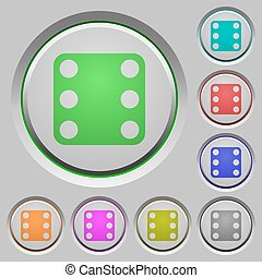 Domino six push buttons