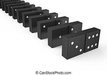 domino isolated on white background