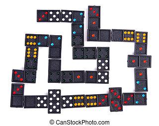 Domino on isolated white background