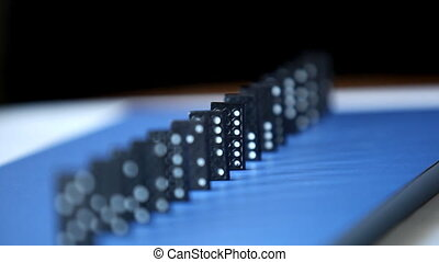 Domino Effect. falling chips