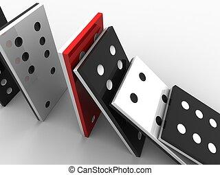 domino stones - 3d rendered illustration of domino stones...
