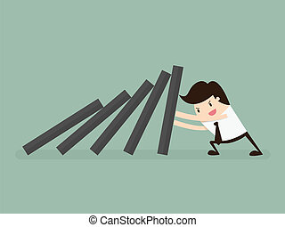 Domino - domino effect and problem solving
