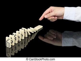 dominobricka effektuera, operation