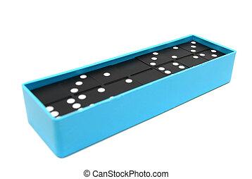 dominoes., 上に, a, 白, バックグラウンド。