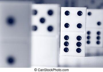Dominoes game - Macro photography dominoes on white ...
