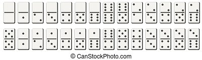 Dominoes or domino tiles white vector isolated mockups with ...