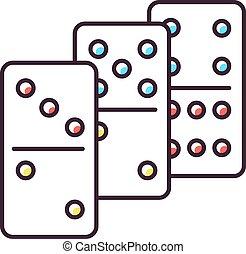 Dominoes RGB color icon