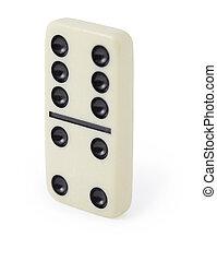 dominos, blanc, une