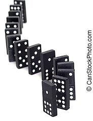 dominos, courbé