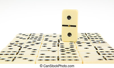 Dominos texture, isolated on a white background