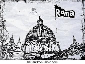 domkyrka, st.  peter's, rom