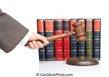 dommer, kungøre, den, kendelse