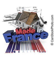 domowe zbudowanie, robiony, francja