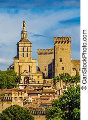 doms, francia, catedral, -, dama, avignon, nuestro