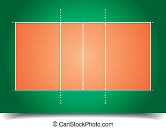 domstol, volleyboll