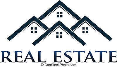 domy, apartamenty, wektor, logo, desig