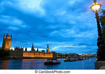 domy, na, parlament, tamiza
