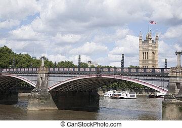 domy parlamentu, i, lambeth, bridge;, londyn