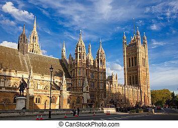 domy parlamentu, londyn