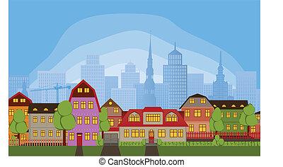 domy, sąsiedztwo