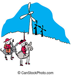 Don Quijote vector illustration