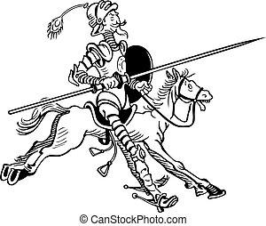 Don Quixote riding horse
