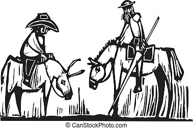 Don Quixote - Expressionist image of the fictional character...