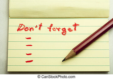 Don, t forget note