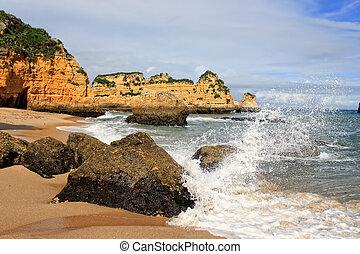 dona, praia, lagos, portugal, ana