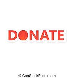 donación, concepto, australia-, vector, abrasador,...