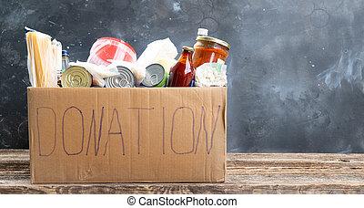 donación, concepto, caridad