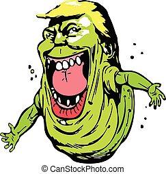 Donal trump cartoon image, trump funny icon