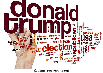 Donald Trump word cloud concept