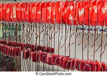 donante, sangre, laboratorio