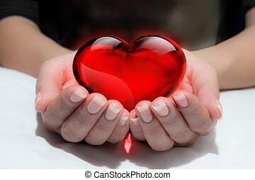 donar, su, corazón