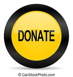 donate black yellow web icon